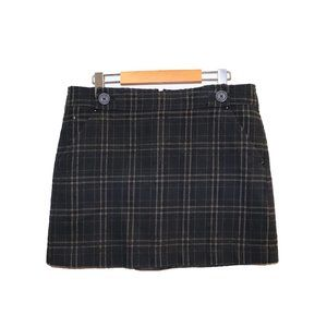Jacob Plaid Tartan Lined Mini Skirt